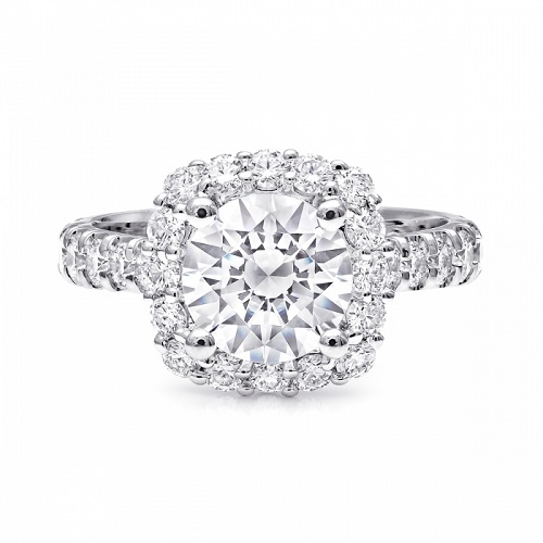 Coast Diamond 1.5 carat halo engagement ring LZ5016