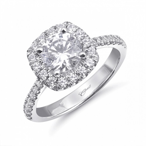 Coast Diamond halo engagement ring LC10420 fishtail set Charisma Collection