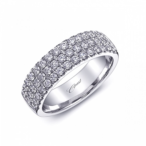 Coast Diamond three row fishtail set diamond band WC5106