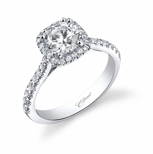 Coast Diamond cushion-shaped halo engagement ring LC5256 instant classic
