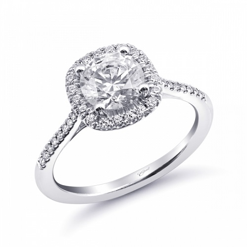 Coast Diamond halo engagement ring LC6067 instant classic