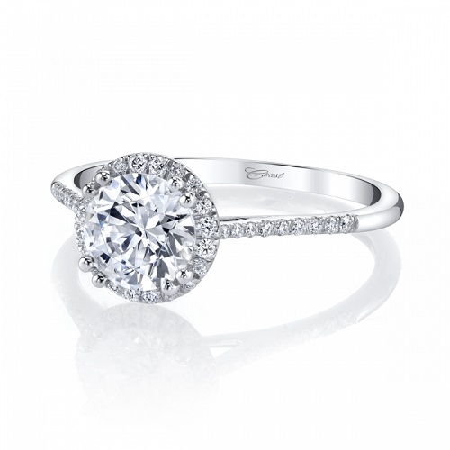 Coast Diamond round halo engagement ring LC5403
