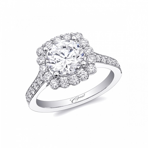 Coast Diamond 2CT halo engagement ring LC10025