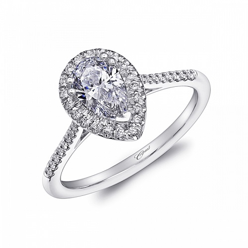 Coast Diamond pear cut halo engagement ring LC5410-PRS