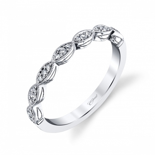 Coast Diamond band WC7034 round diamonds in marquise shapes white gold