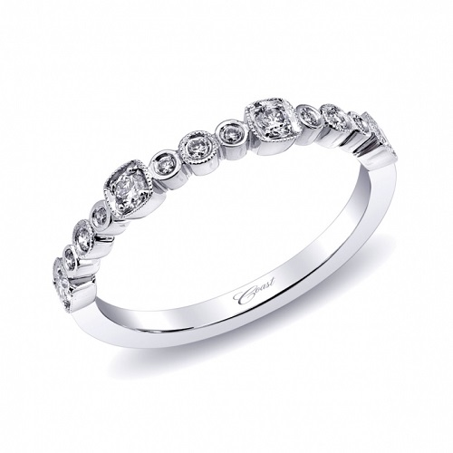 Coast Diamond band WC10215H round and square shapes
