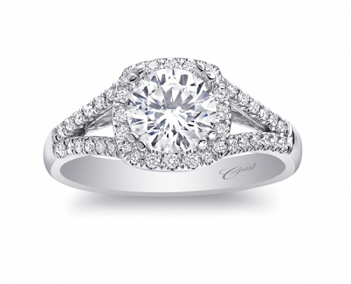 Coast Diamond modern halo engagement ring LC5340