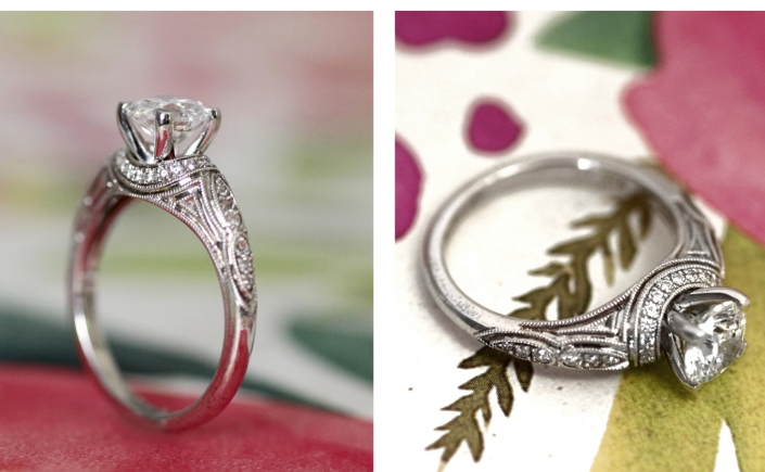 Coast Diamond hand-engraved engagement rings