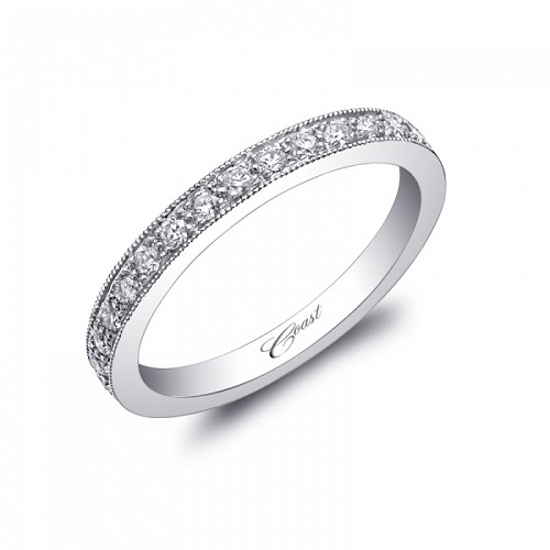 Coast Diamond classic pave set diamond wedding band WC0890H