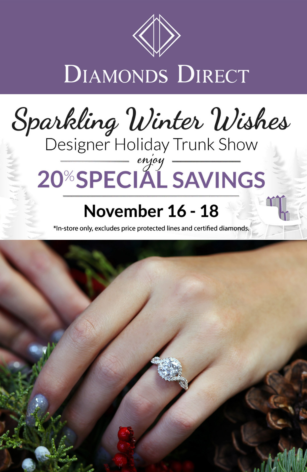 Attention Richmond, VA Residents! Visit the Diamonds Direct Designer Holiday Trunk Show Featuring Coast Diamond.