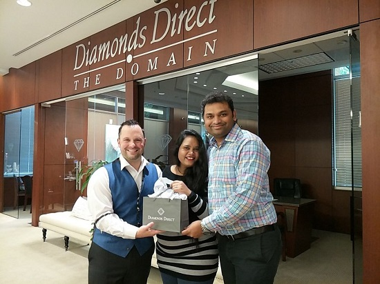 A happy couple at Diamonds Direct Austin TX