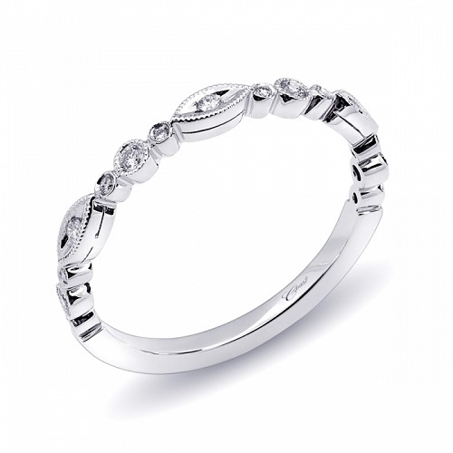 Coast Diamond fashion band of round and marquise shapes white gold WC10183H