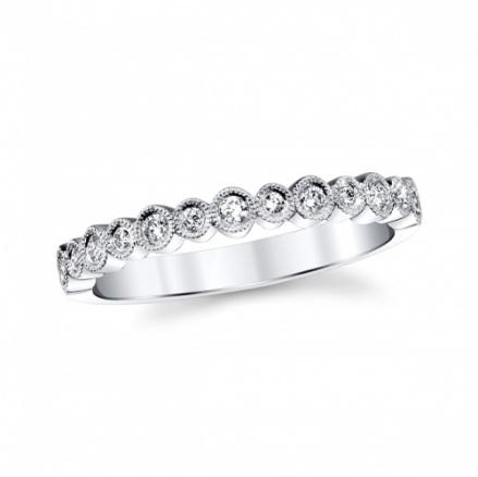 coast diamond white gold fashion band wc20089 round shapes set with diamonds finished with milgrain edging