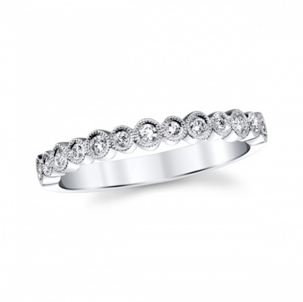 coast diamond white gold fashion band wc20089 round shapes set with diamonds finished with milgrain edging
