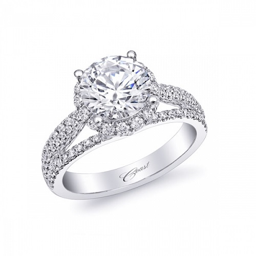 coast diamond 2 ct halo engagement ring lc10028 3 row diamond band