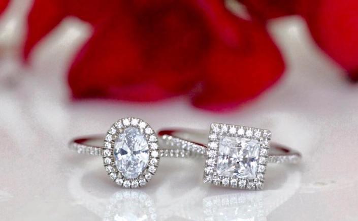 coast diamond halo engagement ring lc5410 princess oval