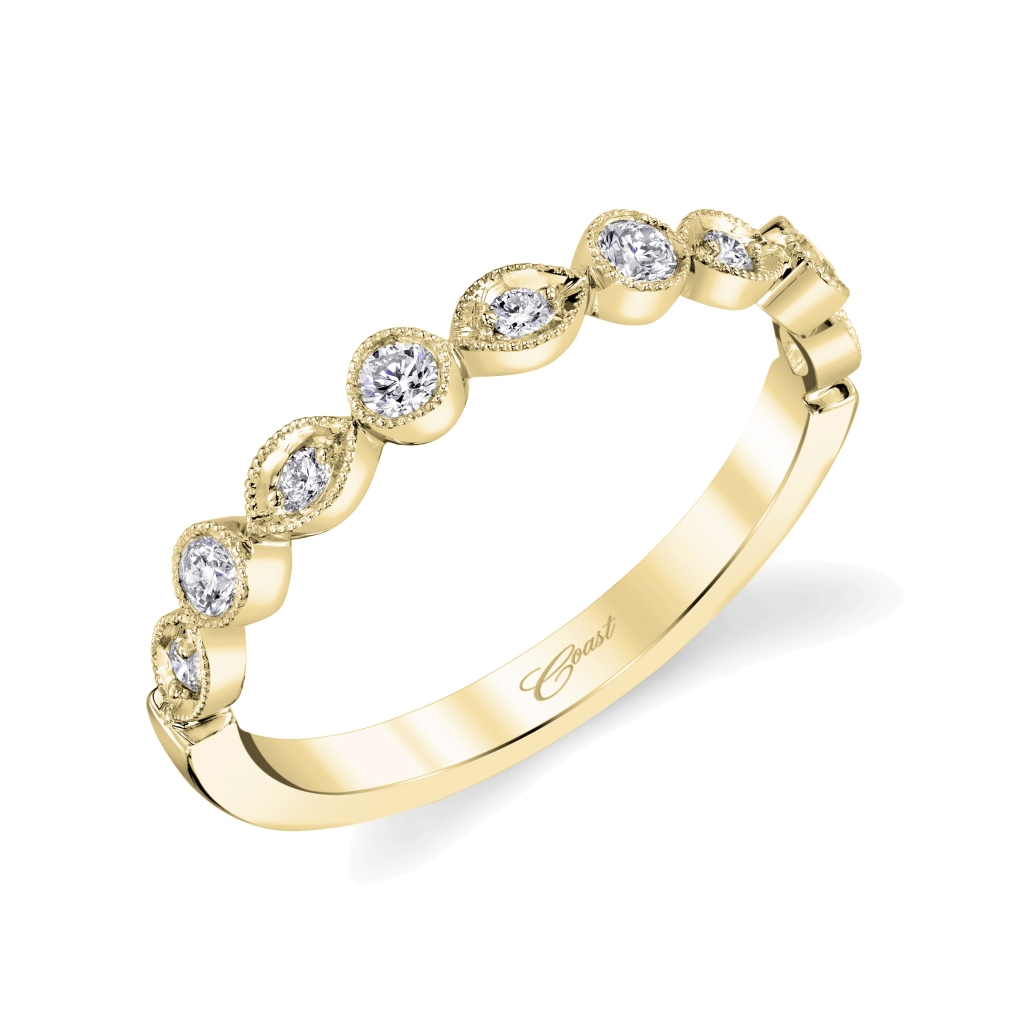 Coast Diamond yellow gold fashion band Style number: WC10178H-YG