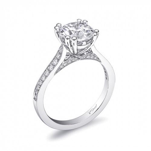 Coast Diamond 2 CT engagement ring LC10041 pave set diamonds