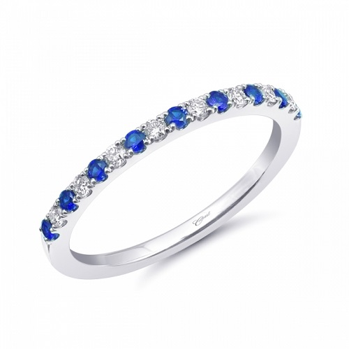 Coast Diamond fashion band of diamonds and sapphires set in microprongs