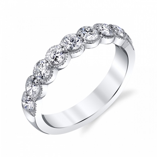 Coast 1.01 ct scalloped diamond band WS20002