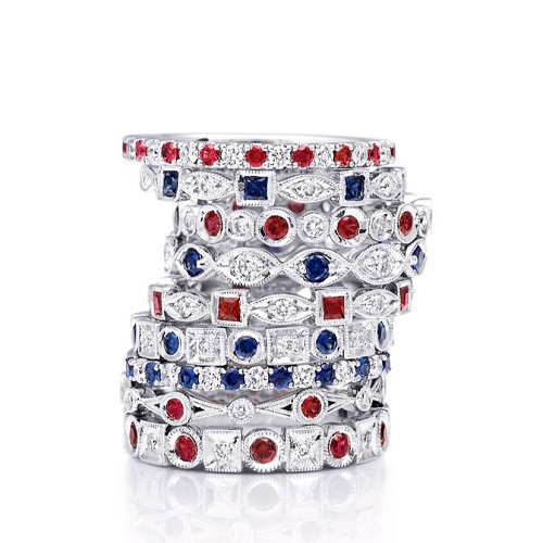 Coast Diamond ruby and sapphire diamond bands WC20020C-R, WC10175H-S, WC20089-R, WC10177C-S, WC10175H-R, style number unknown, WC20020C-S, style number unknown, style number unknown