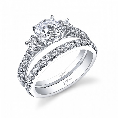 Coast Diamond three stone engagement ring LC5266 wedding band sold separately