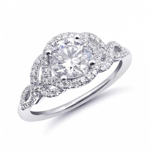 Coast Diamond engagement ring LC6103 intertwining fishtail set diamond shank