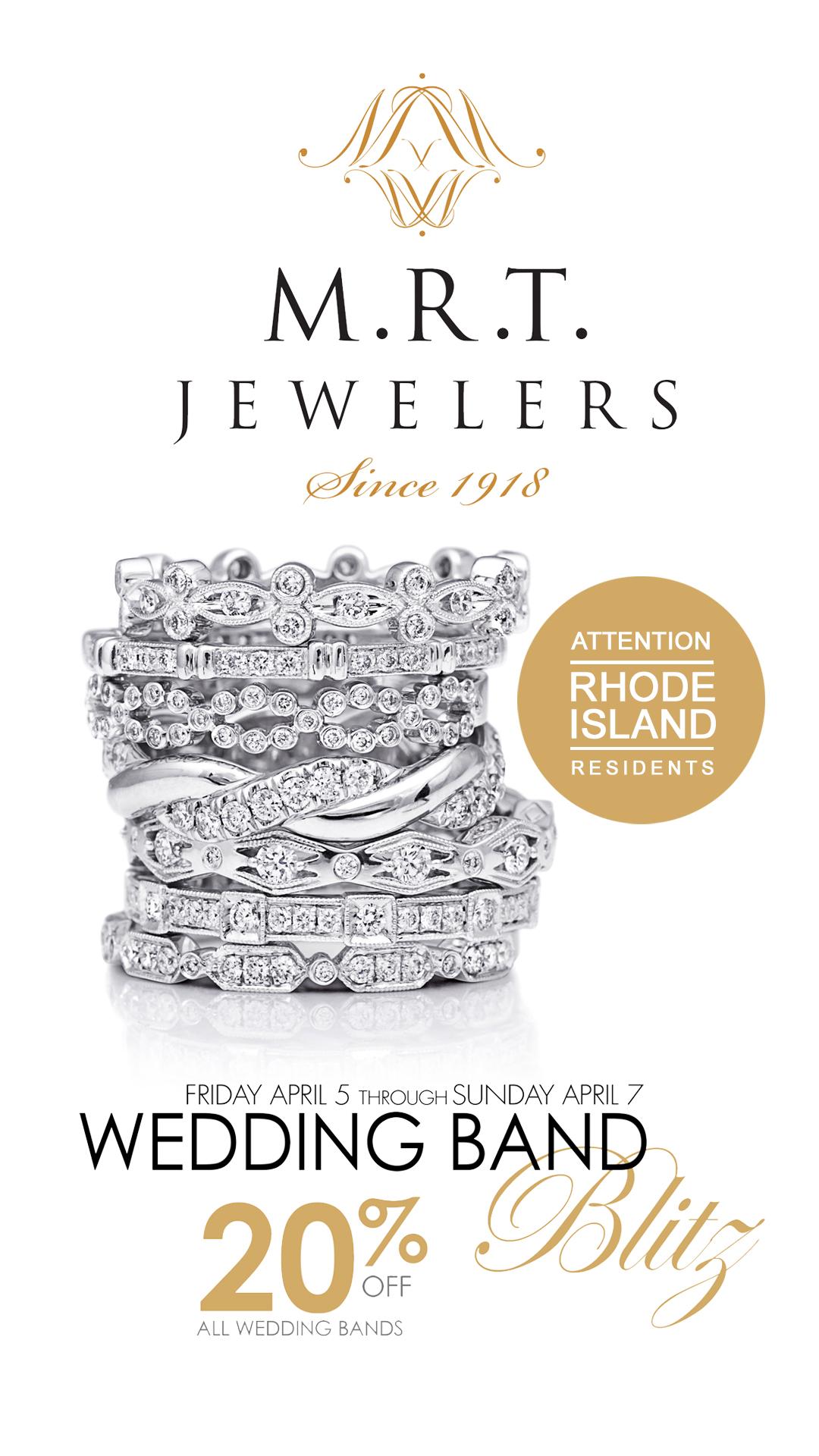 MRT Jewelers, East Providence Rhode Island | Wedding Band Blitz Event Featuring Coast Diamond!