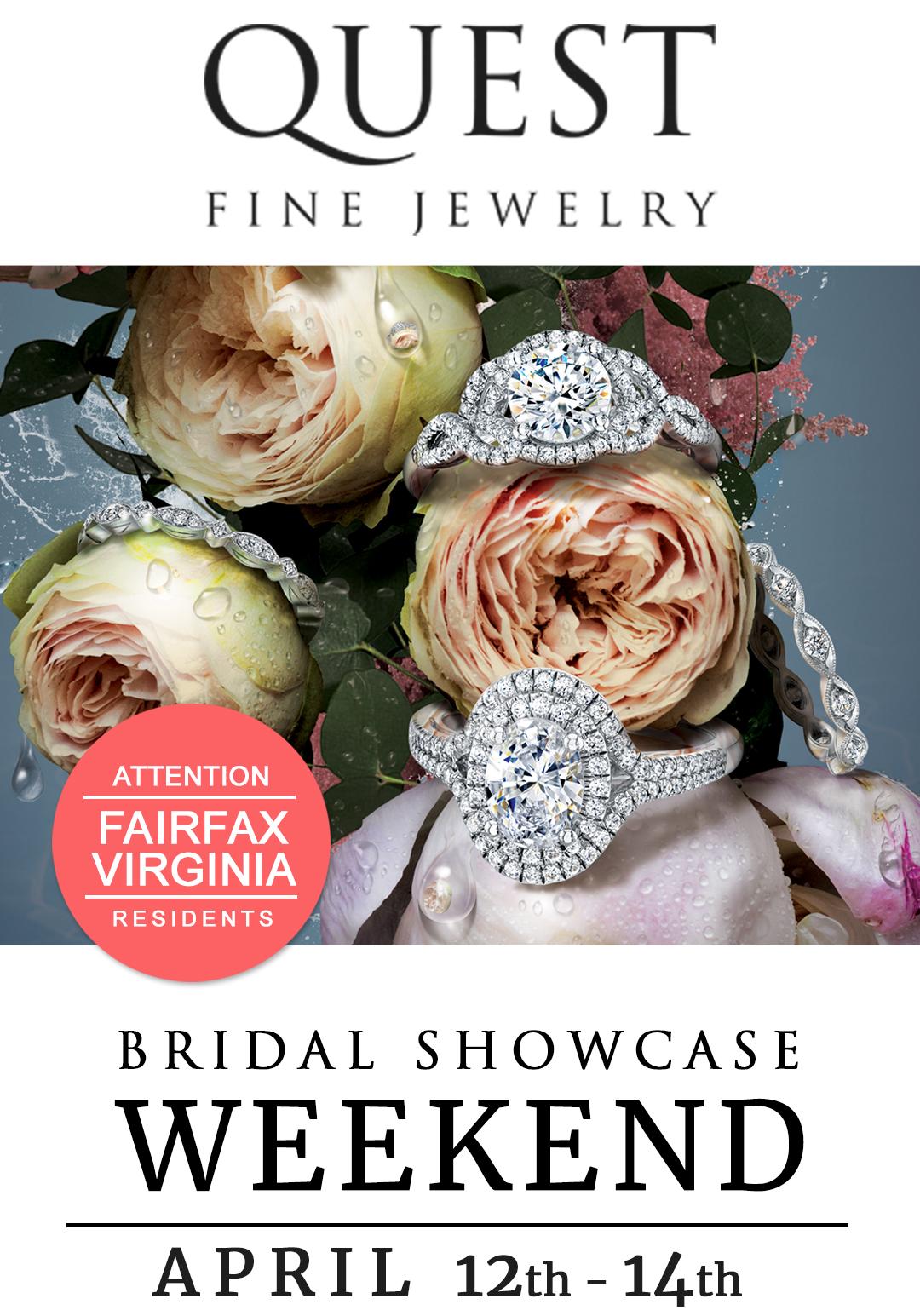 Attention Fairfax, VA Residents: Quest Fine Jewelers Bridal Showcase Weekend – Featuring Coast Diamond!