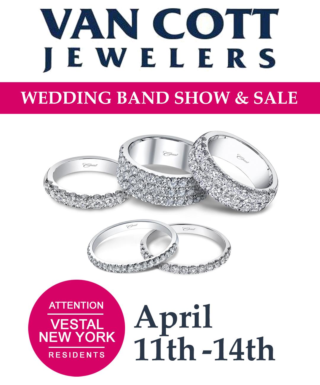 Van Cott Jewelers Wedding Band Show and Sale – Featuring Coast Diamond