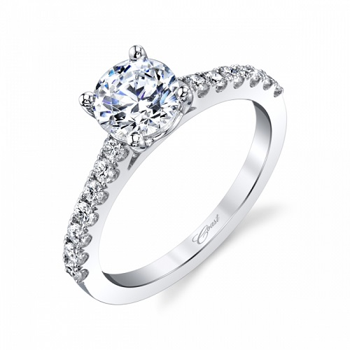 Hearloom Coast Diamond 1 CT engagement ring LC20014 0.35 ctw diamond shank