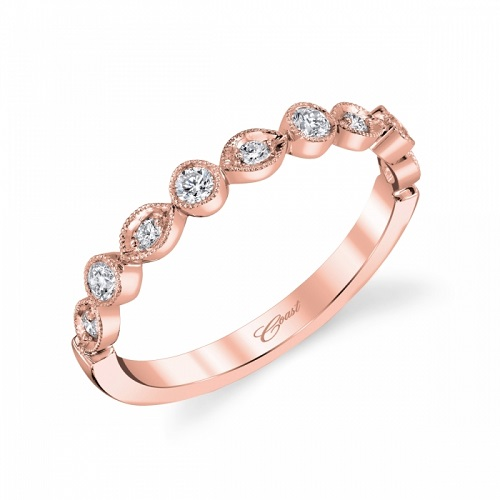 Coast Diamond rose gold fashion band WC10178HRG marquise and round shapes