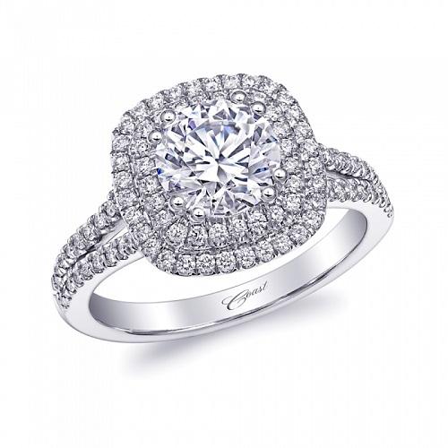 Coast Diamond 1.25 CT Double Halo engagement ring LC10130