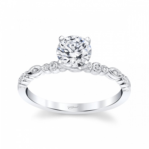 Coast Diamond engagement ring LC30094H band of varied shapes