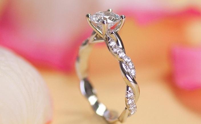 Coast Diamond Infinity Engagement Ring LC7049
