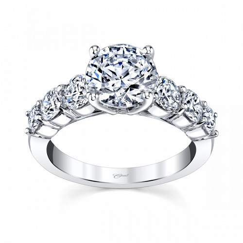 Coast Diamond 2 CT engagement ring LJ6134 1.23 ctw on the shank