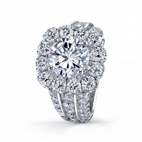 Coast Diamond floral inspired halo engagement ring (LS10143)