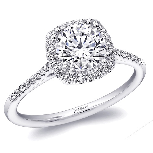 Coast Diamond cushion shaped halo engagement ring LC5410 (1)