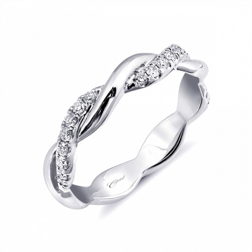 Coast Diamond fashion ring WC20044H high-polished and diamond twisted band