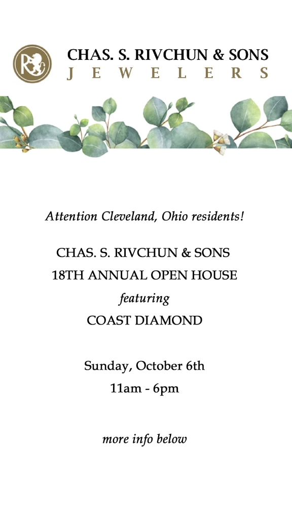 CHAS. S. RIVCHUN & SONS  18TH ANNUAL OPEN HOUSE | featuring Coast Diamond | Sunday, October 6th