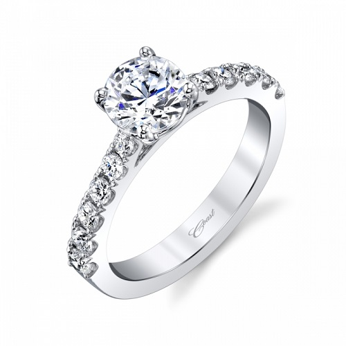 Coast Diamond contemporary engagement ring LC20017 0.49 ctw