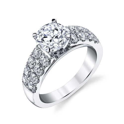 Coast Diamond 1.5 CT engagement ring LC20136 double row of diamonds