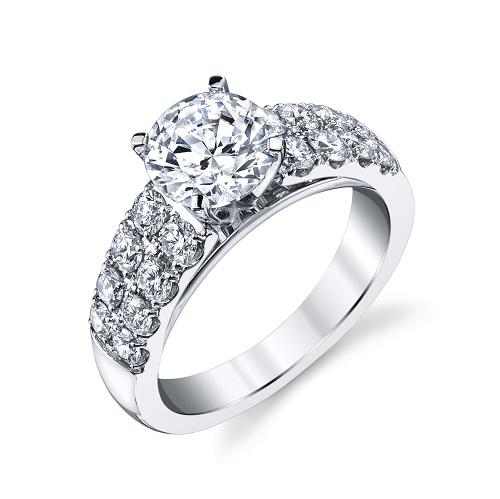 Coast Diamond 1.5 CT engagement ring LC20136 double row of diamonds