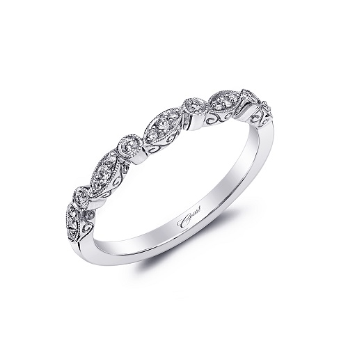 Coast Diamond stackable band WC7036 White gold