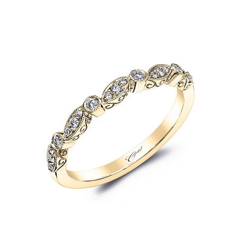 Coast Diamond stackable band WC7036-YG